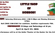 Get your part in 'Little Shop of Horrors' Feb. 6, 8