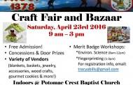 Boy Scouts craft fair in Woodbridge, April 23