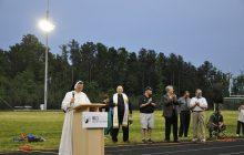 St. John Paul Catholic school dedicates field lights, launches radio station