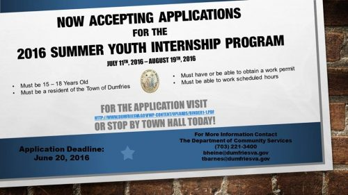 does your child need a summer job apply for the dumfries internship program