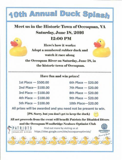 10th annual Duck Splash race in Occoquan, June 18