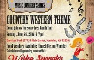 Country singer Wesley Spangler performing in Dumfries, June 26