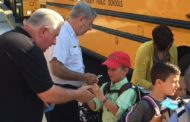 Students welcomed at new Kyle Wilson Elementary by Prince William firefighters