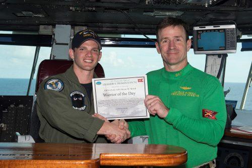 Manassas sailor awarded 'Warrior of the Day' on USS Harry S. Truman