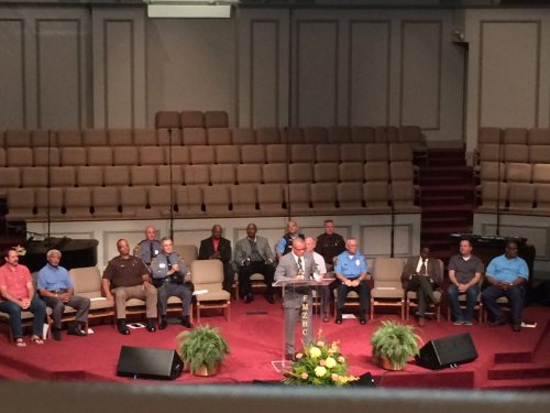 Hundreds gather in Dumfries for discussion on community, law enforcement
