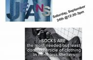 Jeans and socks collection drive for homeless in Woodbridge, Sept. 24