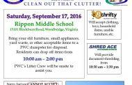 Community shredding event in Woodbridge, Sept. 17