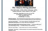 Attacca String Quartet performing in Woodbridge, Sept. 24