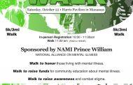 """Go Green for Mental Health"" 5K walk in Manassas, Oct. 22"