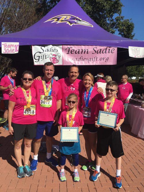 Woodbridge family raises $20K for Team Sadie, Johns Hopkins