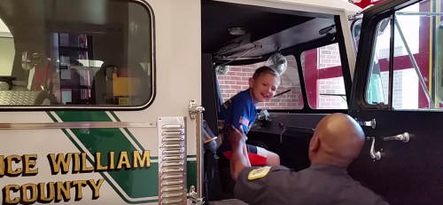 Area volunteer fire department work together to make boy's 8th birthday special