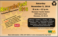 Recycle, shred & donate at Manassas Recyclefest, Nov. 5