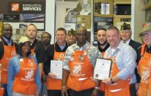Occoquan VFW Post 7916 awards Home Depot for their assistance