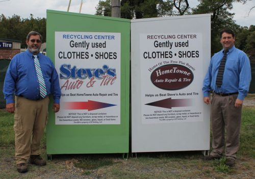 Steve's & HomeTowne 'face off' with B-Thrifty clothing donations, help 1,082 children