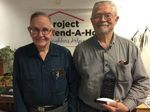 Haymarket man named 'Volunteer of the Year' by Project Mend-A-House