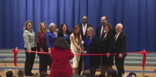 Manassas students cheer for new Baldwin school ribbon-cutting