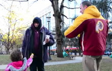 Prince William residents give 80+ pairs of socks to the homeless