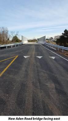 New Aden Road Bridge in Nokesville now open