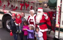 Dale City Volunteer Fire Department & Santa visit children in need in Prince William