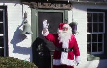 Santa stops for a visit at Rippon Lodge in Woodbridge