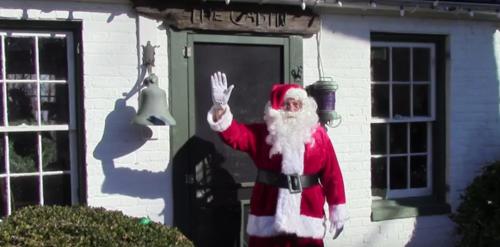 Santa stops for a visit at Rippon Lodge in Woodbridge