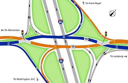 Diverging Diamond Interchange opening in Haymarket delayed