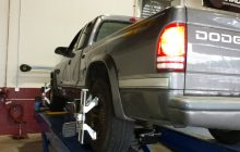What happens during a wheel alignment?