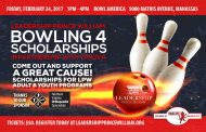 LPW hosting bowling fundraiser for youth, adult programs