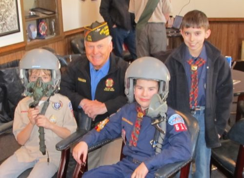 Cub Scout Pack 611 meets veterans from Occoquan's VFW Post 7916