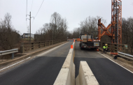 Old Centreville Road down to one lane at Bull Run, during road work