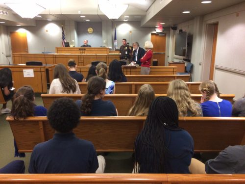 Prince William Bar Association gives middle schoolers Judicial Center tour