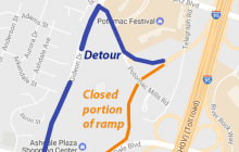I-95 ramp in Dale City to be closed overnight, Mar. 28-31