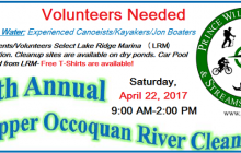 Volunteers needed for Occoquan River cleanup, Apr. 22