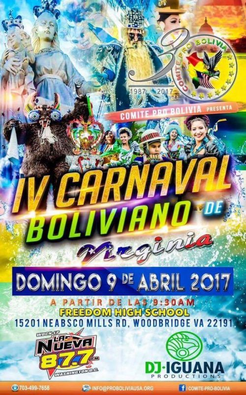 Bolivian festival in Woodbridge on Apr. 9