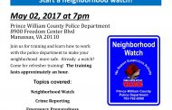 Prince William police hosting Neighborhood Watch training, May 2