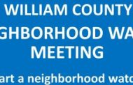 Neighborhood Watch training with Prince William police, Nov. 6