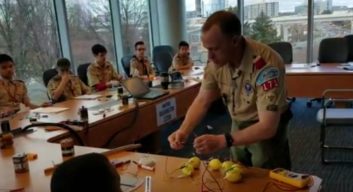 Community Conversations: MITRE hosts Merit Badge Day for Boy & Girl Scouts