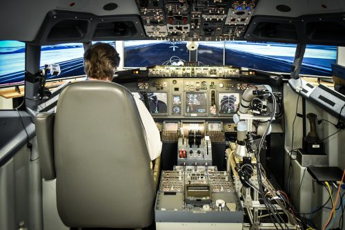 Manassas-based company Aurora Flight Sciences' robotic co-pilot flies & lands simulated Boeing 737