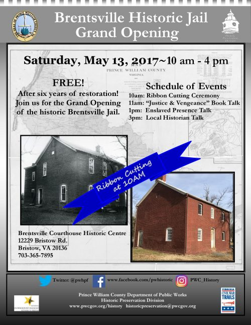 Brentsville Historic Jail reopening after 6-year restoration project