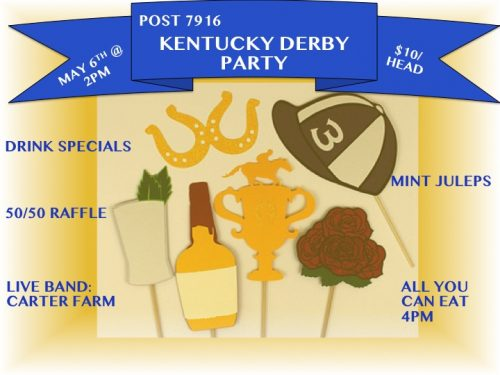 VFW Post 7916 hosting horse parade, Kentucky Derby party this weekend