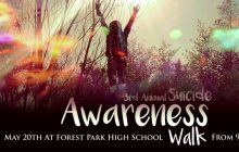 Forest Park High students host third Suicide Awareness Walk, May 20