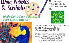 """""""Wine, Nibbles & Scribbles"""" event to benefit Dale City Volunteer Fire Department, May 18"""