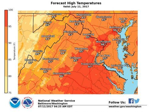 Forecast shows high temperatures, thunderstorms ahead