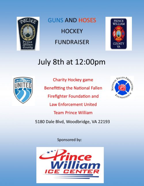 Firefighters & police officers face off in charity hockey game in Dale City tomorrow