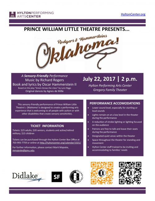 "Hylton Center hosting ""sensory-friendly"" rendition of Oklahoma, July 22"