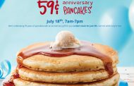 IHOP offering 59¢ pancakes tomorrow for 59th anniversary
