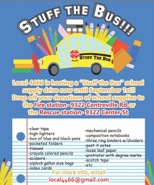 IAFF 4466 collecting school supplies for Manassas students