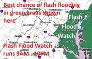 Prince William-area under flash flood watch today, thunderstorms possible
