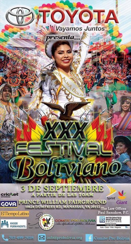 Traditional food & dancing at Bolivian Festival in Manassas, Sept. 3