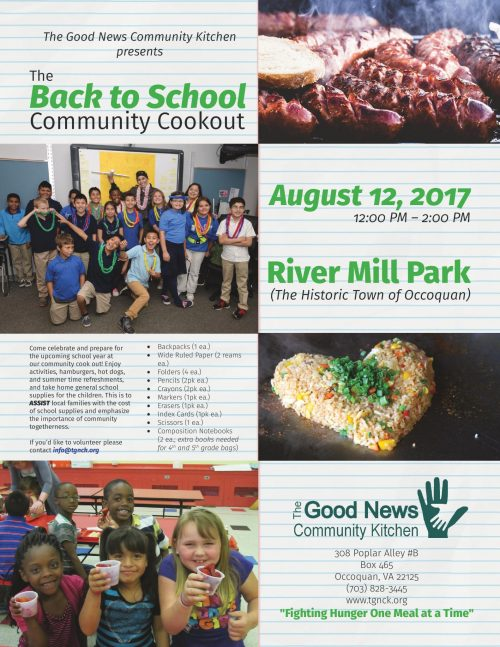 "Good News Community Kitchen hosting ""back-to-school"" community cookout"